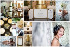 Inspiration: The Great Gatsby / Style-Shoot /Organisation: Das Hochzeitswerk Barbara Gandenheimer Fotografie  Papeterie: Die exklusiven Einladungskarten/ Patisserie: mytoertchen.de/ Blumen: Petra Walossek