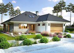 Projekt domu Piwonia 119,50 m² - koszt budowy - EXTRADOM Beautiful House Plans, Simple House Plans, My House Plans, House Floor Plans, Minimal House Design, Minimal Home, Modern Bungalow House, Bungalow House Plans, House Layout Plans