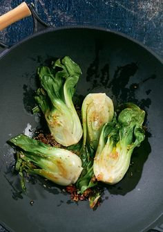 Pak Choi in Sesamsauce Food N, Good Food, Food And Drink, Vegetarian Recipes, Healthy Recipes, Salad Bar, Vegetable Side Dishes, Vegan Dishes, Asian Recipes
