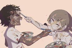 Dark Art Illustrations, Dark Art Drawings, Illustration Art, Chibi, Symbolic Art, Anime Crying, Deep Art, Sad Art, Dark Fantasy Art