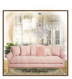 """""""Pink Elegance"""" by melody-renfro-goldsberry ❤ liked on Polyvore featuring interior, interiors, interior design, home, home decor, interior decorating, Nearly Natural, Aviva Stanoff and Pier 1 Imports"""