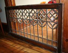 Antique Stained Glass Interior Door | House Parts For Sale