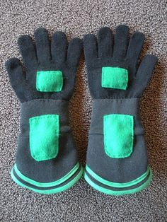 wild kratt's gloves (from PBS kids show0 for birthday party