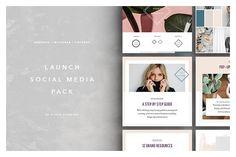 Launch Social Media Pack by Studio Standard | TaylorAdams4Me on @creativemarket