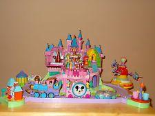 Polly Pockets Disney World Land Magic Kingdom Magical Castle Train Cinderella