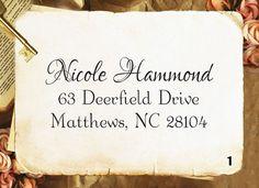Create A Custom Script Self Inking Address Stamp S21