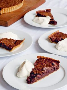 "Too Bad they Didn't Share the Recipe for this Yummy Looking Pecan and Chocolate Tart.   You Can Find the Recipe in Margot Henderson's Book ""You're all Invited""."