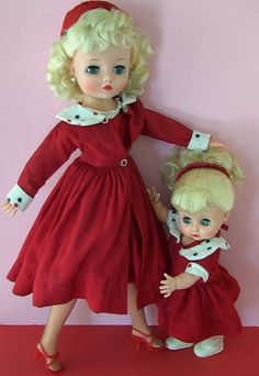 Gorgeous Uneeda Dollikin vintage doll Mommy and daughter set