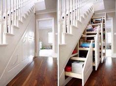 Staircase Utilization (pullout storage)