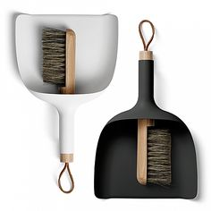 Sweeper and Dustpan is so simple in it's core idea, that it becomes almost brilliant – it's the kind of design you wish you'd thought of yourself, and the obvious value of the design makes people wond Scandinavian Living, Scandinavian Design, Smart Design, My Design, Foyer Design, Loft Design, Home Decoracion, Modern Shop, Danish Design