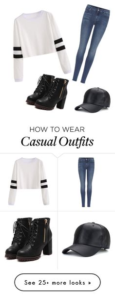 """""""chic but casual"""" by annabellabeautiful on Polyvore featuring 7 For All Mankind"""