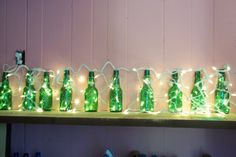 Items similar to Green Glass Grolsch Beer Bottle Lights on Etsy Beer Bottle Lights, Grolsch Beer, Glass Bottles, Beer Bottles, Skyy Vodka, Friday Night Lights, Beer Snob, Bottle Crafts, Vodka Bottle
