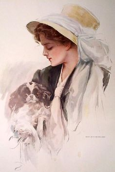"""""""Beauties"""" illustration by Harrison Fisher (1877 - 1934)"""