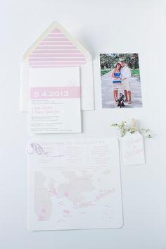 Modern Monogram Wedding Invitation Suite by Dodeline
