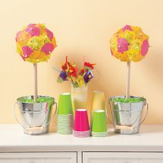 Summer Parasol Topiary - OrientalTrading.com @Alyson Ward- Dudek and these!