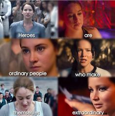divergent tris and the hunger games katniss