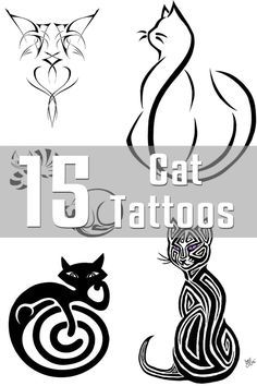 Cat Tattoo Designs...these would be fun to paint on rocks!