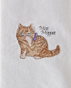 Machine Embroidery Beatrix Potter Miss Moppet by OnMuskratCreek