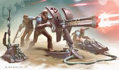 Revenge of the Sith ( 2005 ) Wookie Heavy Gunner's nest concept. by Aaron McBride D&d Star Wars, Star Wars Canon, Star Wars The Old, Star Wars Droids, Star Wars Fan Art, Star Wars Characters Pictures, Star Wars Images, Star Wars Vehicles, Star Wars Concept Art