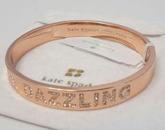 NEW AUTHENTIC KATE SPADE Be Dazzling Clear Crystal RoseGold KS Bangle Bracelet in Jewelry & Watches, Fashion Jewelry, Bracelets | eBay