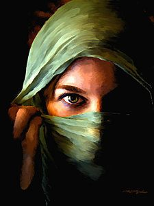 Arabian Woman Painting - Behind The Veil by Tim Tompkins Acrylic Portrait Painting, Abstract Portrait, Woman Painting, Painting & Drawing, Portrait Paintings, Painting Abstract, Acrylic Paintings, Abstract Landscape, Art Paintings