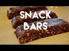"Chocolate Coconut Snack Bars that resemble ""Larabars.""recipe. These would be great for camping, hiking, and backpacking"
