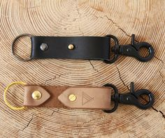 Leather Keychain Australian Custom Leather by WoodlanderStore