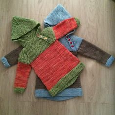 Ravelry: Project Gallery for The Oslo-Anorak pattern by Anna & Heidi Pickles Knitting For Kids, Baby Knitting Patterns, Knitting Projects, Crafts To Do, Crafts For Kids, Baby Barn, Rainbow Crafts, How To Make Ribbon, Kids Patterns