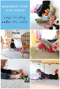 Expand your play space: ideas for playing under the table