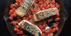 foodie friday: red snapper with cherry tomatoes  | Weldon Owen