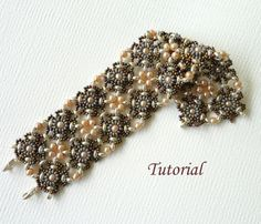 Beading tutorial instructions - beadweaving pattern beaded superduo seed bead jewelry - DOUBLE VISION beadwoven bracelet