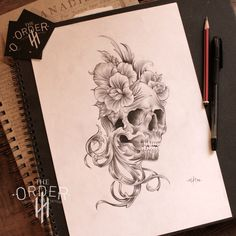 Acanthus, Roses And Skull Sketch The Order