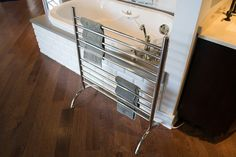 SOLO 33 Wide Freestanding Plug-in Towel Warmer by Amba Products