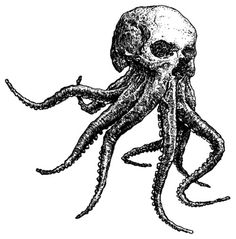 Skellipus / Octoskull (Octopus Skull Skeleton) T-shirt Octopus Tattoo Design, Octopus Tattoos, Skeleton Tattoos, Dark Art Drawings, Tattoo Drawings, Fish Drawings, Tattoo Art, Animal Drawings, Pin Up Tattoos