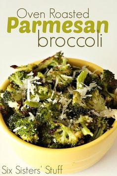 Oven Roasted Parmesan Broccoli Made this for dinner tonight, actually so delicious.