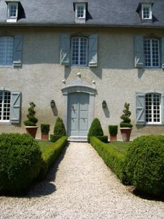 French Chateau with blue shutters!