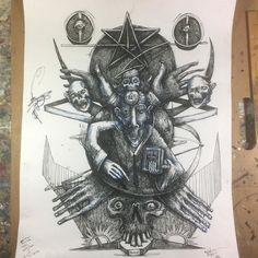 Big 'ol #ink #drawing still in progress