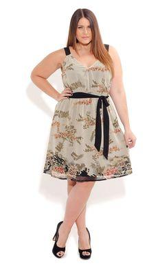 Plus Size Oriental Garden Dress - City Chic - City Chic
