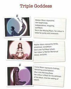 Book of Shadows: #BOS Triple Goddess page.