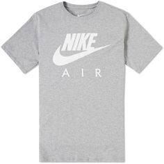 Nike Air Heritage Tee (3655 RSD) ❤ liked on Polyvore featuring men's fashion, men's clothing, men's shirts, men's t-shirts, nike mens shirts, nike mens t shirts, mens cotton shirts and mens cotton t shirts