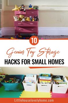 It's difficult to get organized when you have kids. Organizing toys is more difficult tasks than that. Try these genius toy storage hacks for your small home. Organizing Toys, Playroom Organization, Home Organization Hacks, Storage Hacks, Storage Solutions, Organization Ideas, Storage Ideas, Lego Table With Storage, Kid Toy Storage