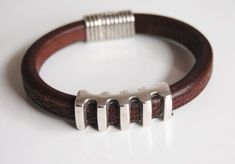 Men's Dark  Brown Licorice Leather by FerozasjewelryForMen on Etsy, $40.00 #men'sjewelry