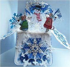 Christmas Card, Christmas Box - Snow Pop up Box   Jeni's Craftroom