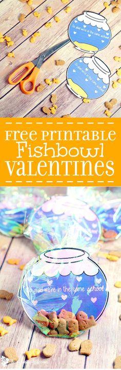 DIY Fishbowl Valentine Printable
