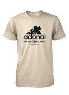 Para Dios Todo Es Posible Adonai Camiseta Cristiana