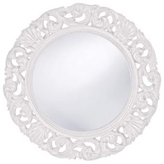 Howard Elliott Glendale White Mirror 26H x 26W x 2D - 2170W