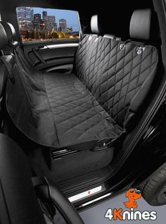 Black Regular Dog Seat Cover - Water Resistant Quilted Rear Bench Seat Protector with the Best Nonslip Rubber Backing and Seat Anchors for Your SUV, Truck or Car Back Seat, Can Be Used As Hammock for Your Dog or Standard Cover to Protect Your Seats From Your Pets or Child Car Seats, 100% Satisfaction Guarantee, Machine Washable. (Black, Regular):Amazon:Pet Supplies