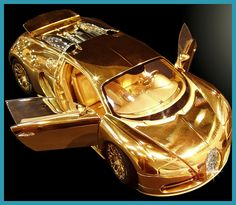 I'm wondering whether this is made out of real gold and diamonds!? Amazing car.