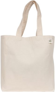 ECOBAGS Canvas Tote Bag Recycled Cotton Reusable Shopping Bag with Pocket - ECOBAGS.com