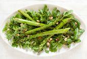 """Roasted Asparagus Salad With Arugula & Hazelnuts   (courtesy of Rebecca Katz, """"The Longevity Kitchen"""")"""